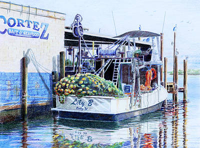 Art Print featuring the painting The Lily B by Roger Rockefeller