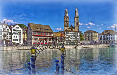 The Limmat City Art Print