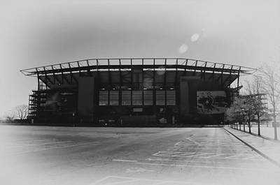 The Linc In Black And White Art Print