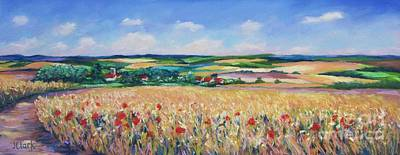 The Lincolnshire Wolds Art Print by John Clark