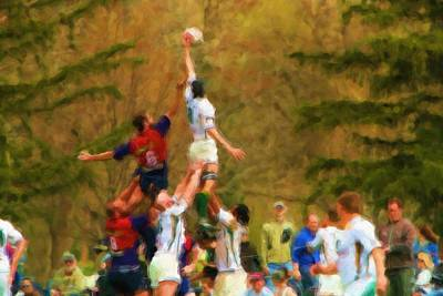 Rugby Photograph - The Line-out by Brian Orlovich