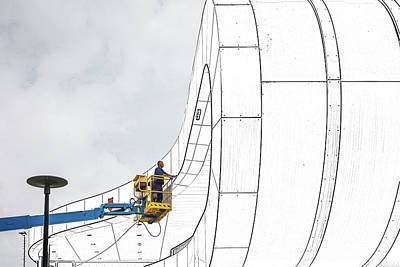 Crane Wall Art - Photograph - The Line Tracker. by Henk Van Maastricht