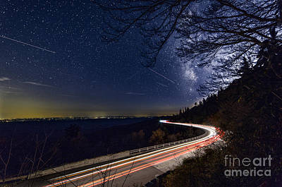 The Linn Cove Viaduct Milky Way Art Print