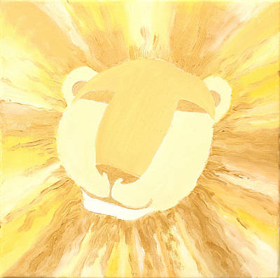 The Lion A Art Print by Sandra Yegiazaryan