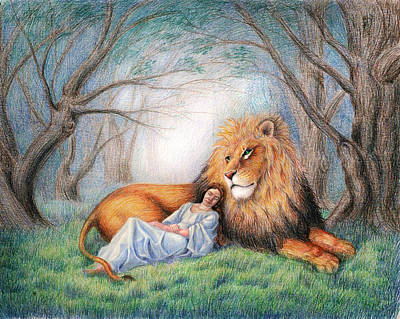 Lion Of Judah Painting - The Lion And Me by Heidi Carson