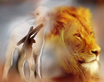 Lion And The Lamb Digital Art - The Lion And The Lamb by Jennifer Page