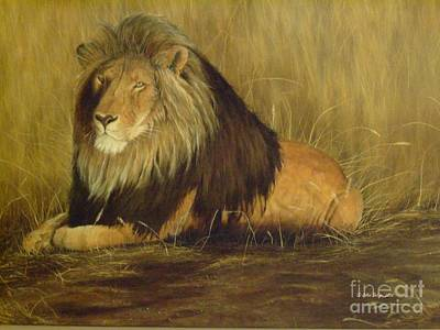 Artists Painting - The Lion King by Gilles Delage