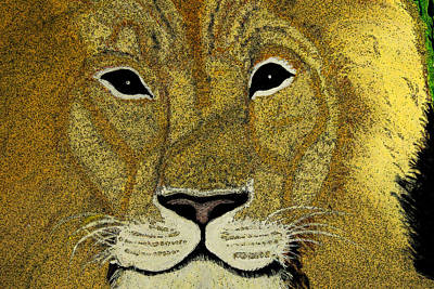 Godly Painting - The Lion by MS  Fineart Creations