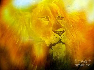 Lion Of Judah Painting - The Lion Of Judah by Collin A Clarke