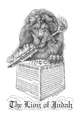 The Claw Drawing - The Lion Of Judah by David Zamudio
