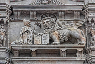 Photograph - The Lion Of Saint Mark II by Lee Dos Santos