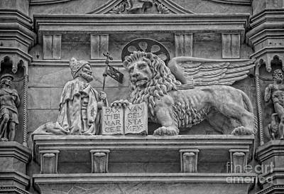 Photograph - The Lion Of Saint Mark by Lee Dos Santos