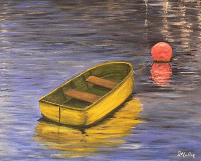 Bouys Painting - The Little Boat by Donna Muller