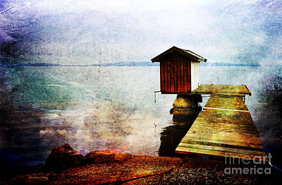 Photograph - The Little Bath House by Randi Grace Nilsberg