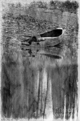 Photograph - The Little Boat Photoart by Debbie Portwood