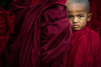Buddhist Photograph - The Little Boy by Sugianto