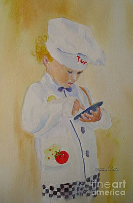 Painting - The Little Chef by Beatrice Cloake