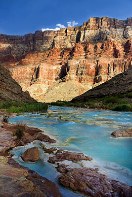 Grand Canyon Digital Art - The Little Colorado  by Ellen Heaverlo
