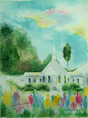 The Little Country Church Art Print by Melanie Palmer