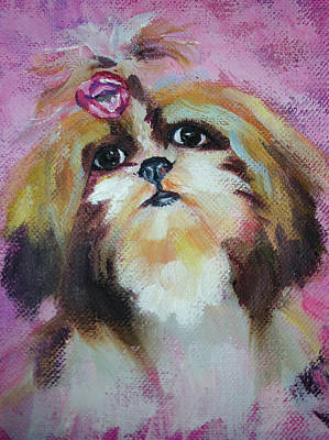The Little Dog Princess Print by Carol Jo Smidt