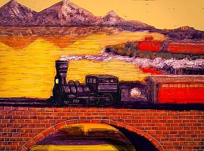 Pictur Painting - The Little Engine by Larry Lamb