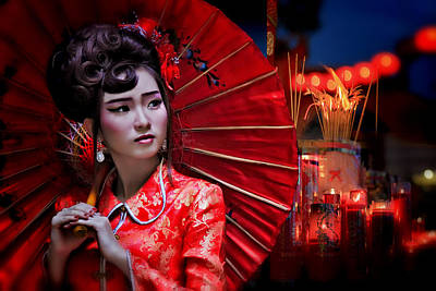 Geisha Photograph - The Little Girl From China by Joey Bangun