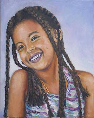 Painting - The Little Girl One by Samuel Daffa