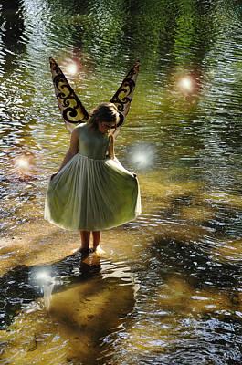 Fairy Photograph - The Little Green Fairy by Angela Castillo