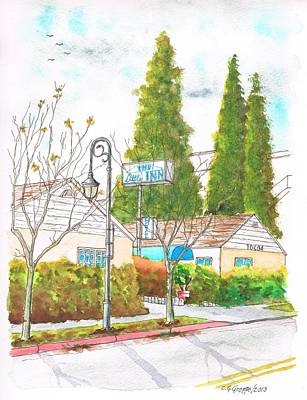 Santa Monica Painting - The Little Inn In Little Santa Monica Blvd. - Santa Monica - California by Carlos G Groppa