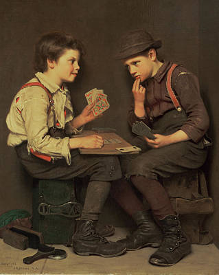 Playing Cards Painting - The Little Joker by John George Brown