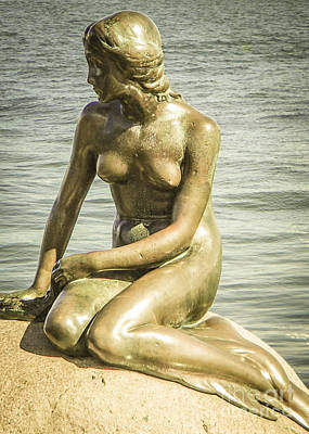 Photograph - The Little Mermaid Copenhagen by Michael Canning