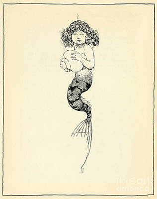 Fantasy Drawings - The Little Mermaid by Celestial Images