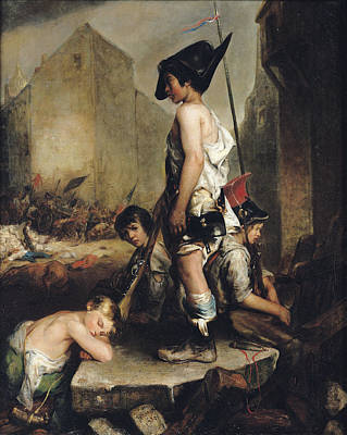 The Little Patriots, 1830 Oil On Canvas Art Print by Philippe Auguste Jeanron