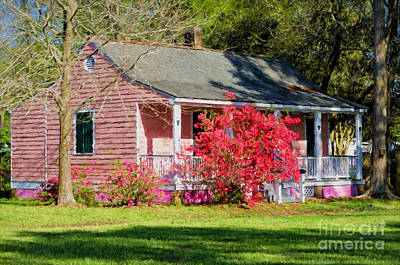 Photograph - The Little Pink Creole Cottage by Kathleen K Parker