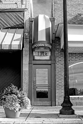Painting - The Little Popcorn Shop In Wheaton Black And White by Christopher Arndt