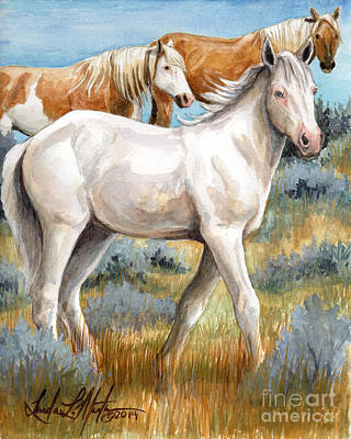 Mustang Painting - The Little Princess by Linda L Martin