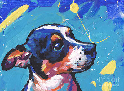 Dog Pop Art Painting - The Little Rattie by Lea S