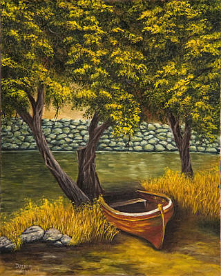 Painting - The Little Red Boat by Darice Machel McGuire