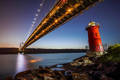 Art Print featuring the photograph The Little Red Lighthouse by Mihai Andritoiu