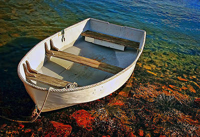 Transportation Photograph - The Little Rowboat by Marcia Colelli
