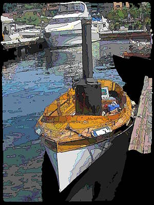Nautical Digital Art - The Little Steamboat That Could by Tim Allen
