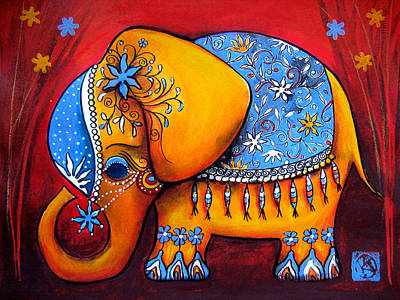 Painting - The Littlest Elephant by Karin Taylor