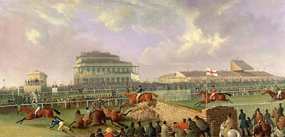 Steeplechase Painting - The Liverpool And National Steeplechase At Aintree by Litz Collection