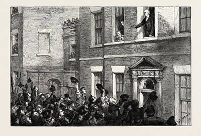 Liverpool Drawing - The Liverpool Election, 1812, Uk Mr. Gladstone Speaking by English School
