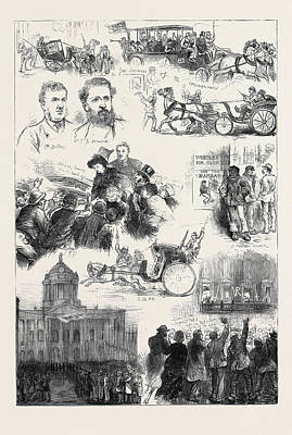 The Liverpool Election 1880 Art Print