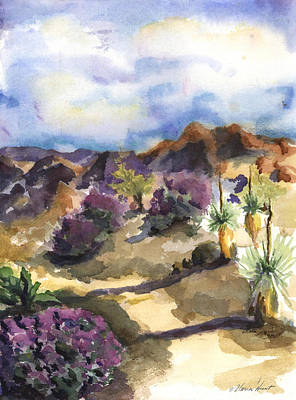 Texas Rangers Painting - The Living Desert by Maria Hunt
