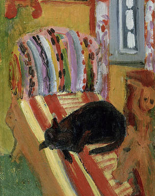Chaise Photograph - The Living Room, 1920 Oil On Canvas Detail Of 148757 by Ernst Ludwig Kirchner