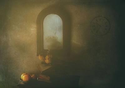 Soft Clocks Photograph - The Living Room by Delphine Devos