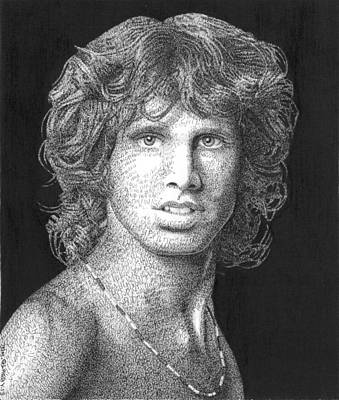 Superstar Drawing - The Lizard King by Timothy Glasby
