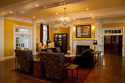 Photograph - The Lobby Fireplace At The Sagamore Resort by David Patterson